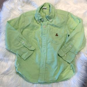 Lime green Gap button up, 3T